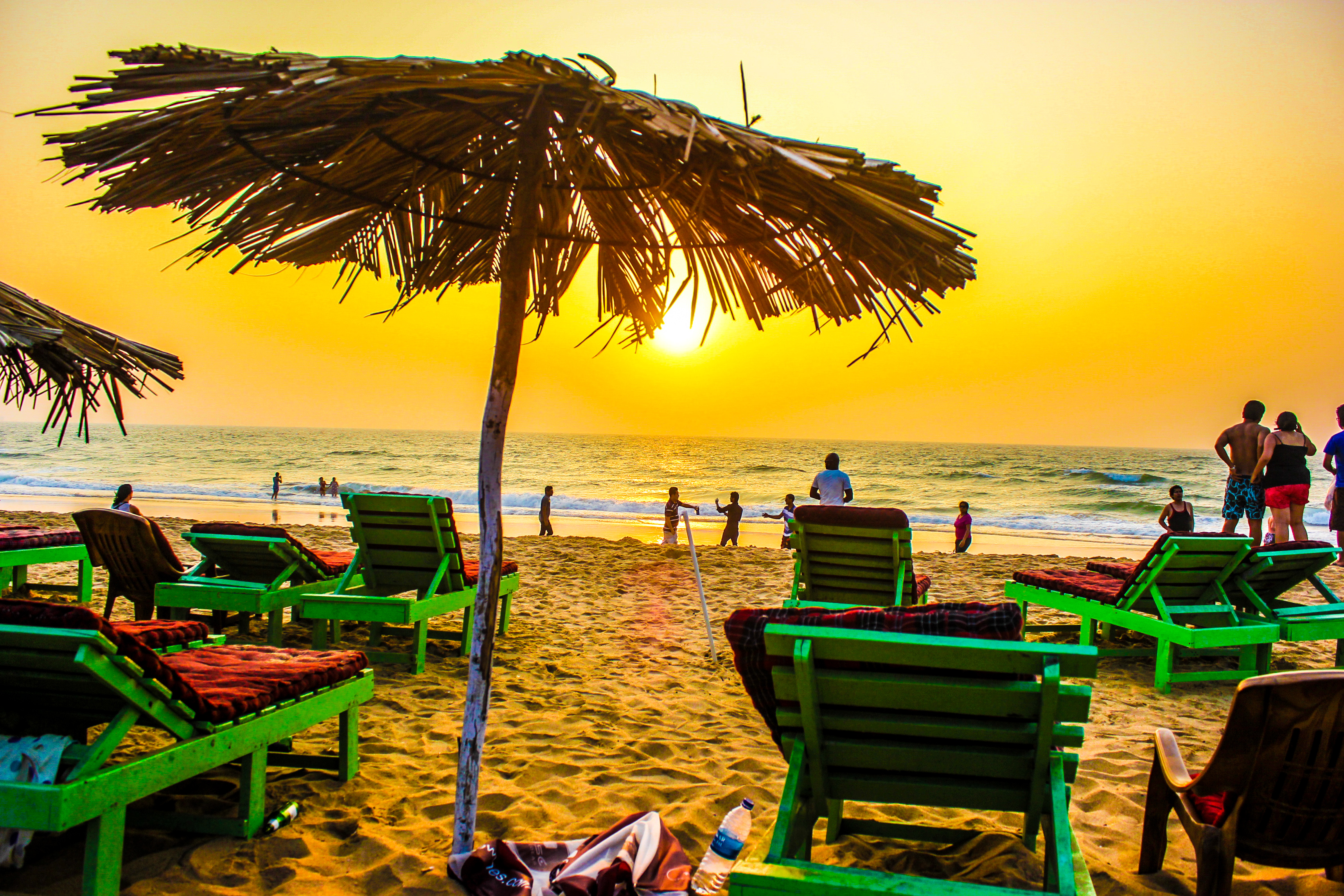 sunset from Candolim Beach