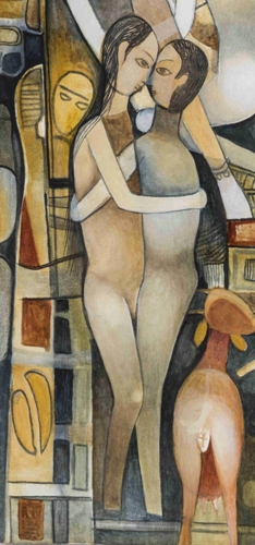 07 Mohan Naik - Detail of Kamasutra - Oil on canvas - 24 x 36 inches copy
