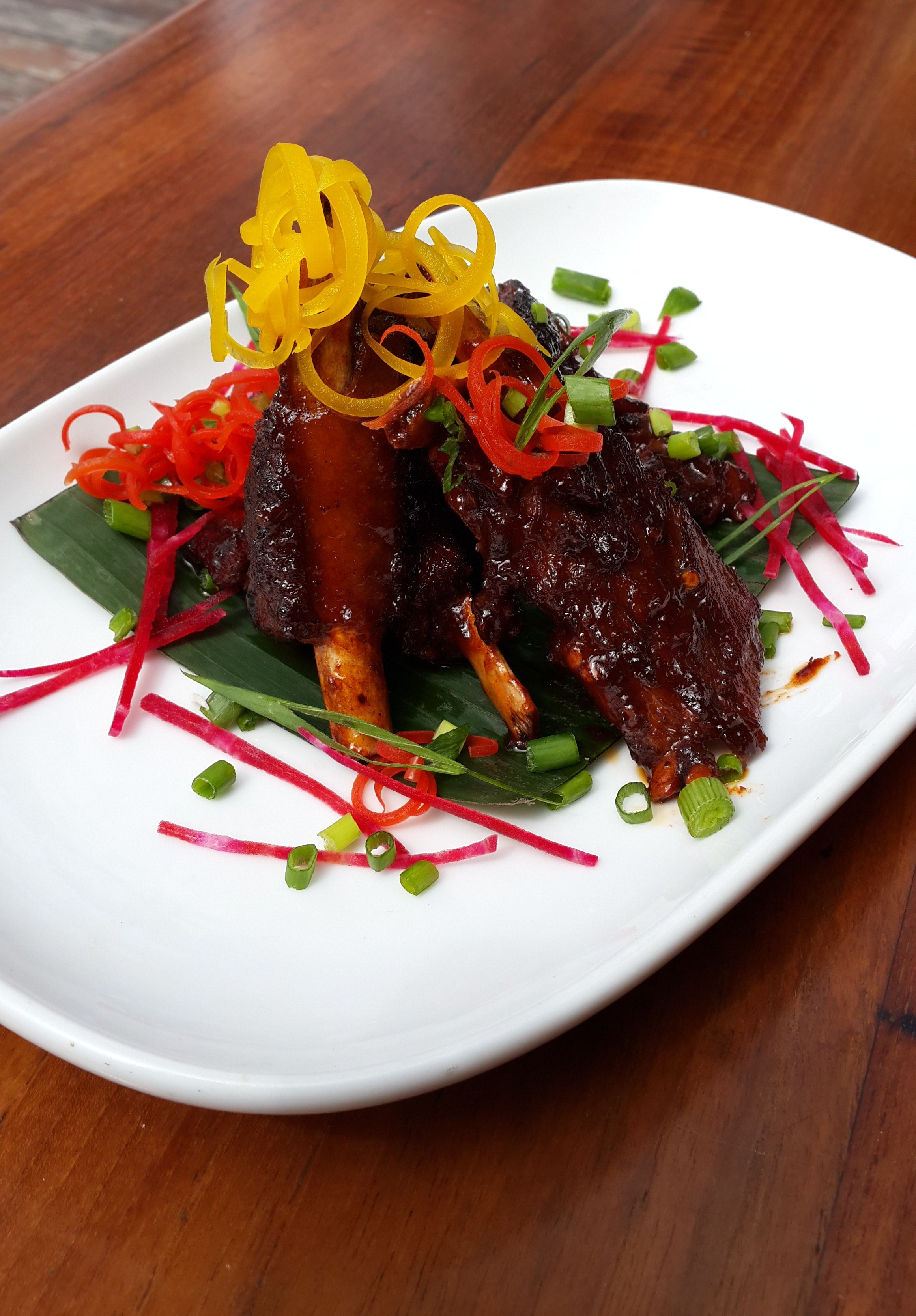 Barbequed pork spare ribs