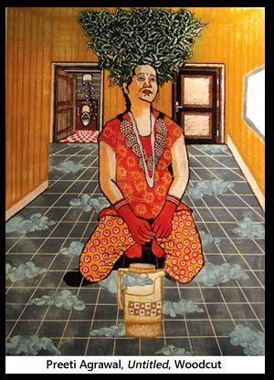 Preeti Agrawal, untitled, woodcut copy